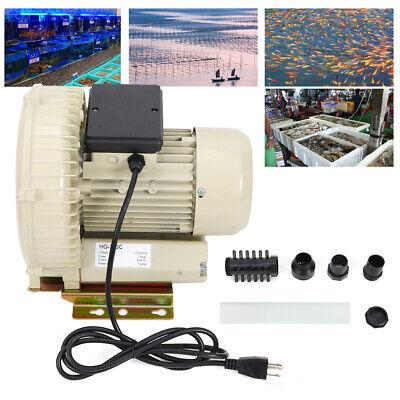 370w Industrial Air Pump Blower Aquarium Pond Fish Tanks Aluminum 12kpa 60mh