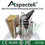 Bee Hive Smoker Tool Stainless Steel With Heat Shield Beekeeping Equipment