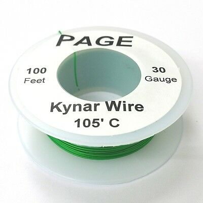 100 Page 30awg Green Kynar Insulated Wire Wrap Wire 100 Foot Roll Made In Usa
