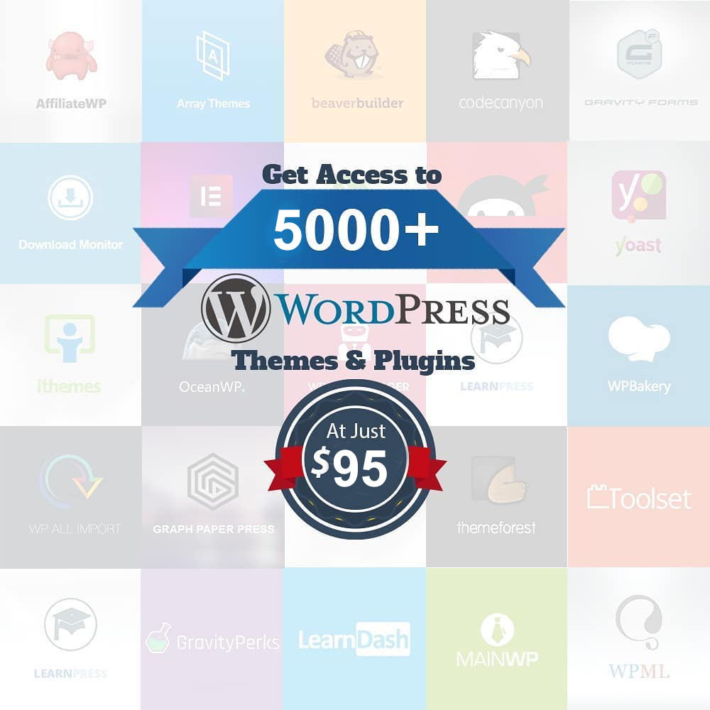 5000+ WordPress Themes & Plugins gpI Licence Unlimited Usage