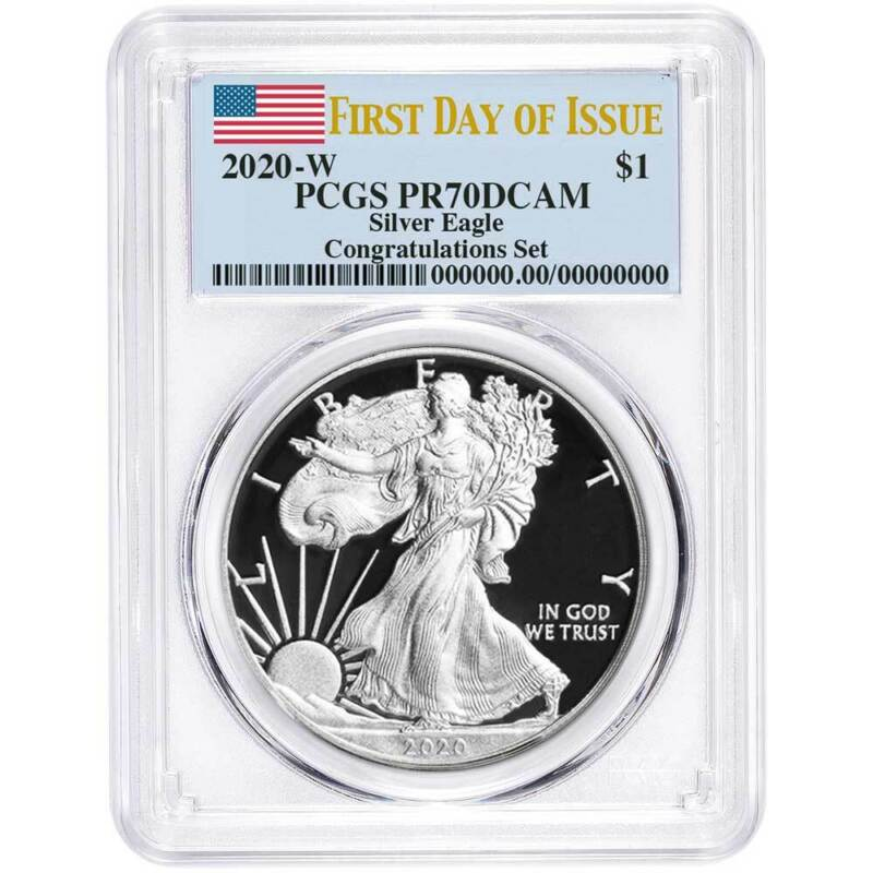 Presale - 2020-W Proof $1 American Silver Eagle Congratulations Set PCGS PR70DCA