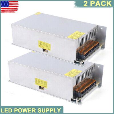 2pcs Ac 110v220v To Dc 12v 50a Amp Power Converter Supply For Led Strips Lights