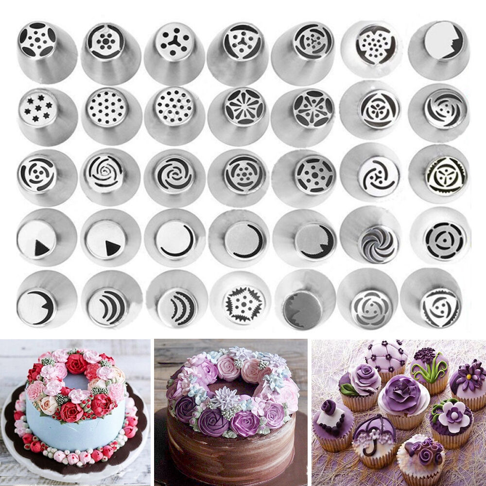 Decorator Tips: Russian Tulip Flower Cake Icing Piping Nozzles Decorating