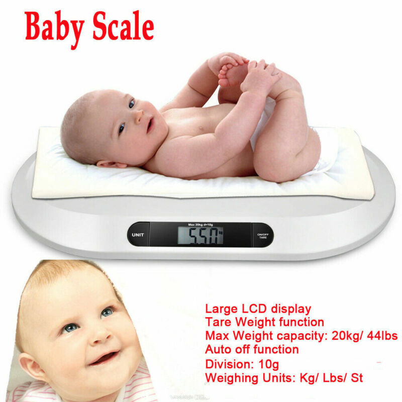 Digital Electronic Baby Pet Scale For Infant Animal Weighting Scale 44LBS w/ LCD