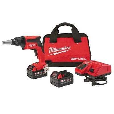 Milwaukee 2866-22 Fuel Drywall Screw Gun Kit 2 5.0 Ah Batteries Charger Bag