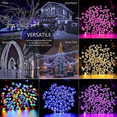 Solar String Lights 100-300 LED Multi Outdoor Garden Party Christmas Fairy Lamp - Multi String Lights