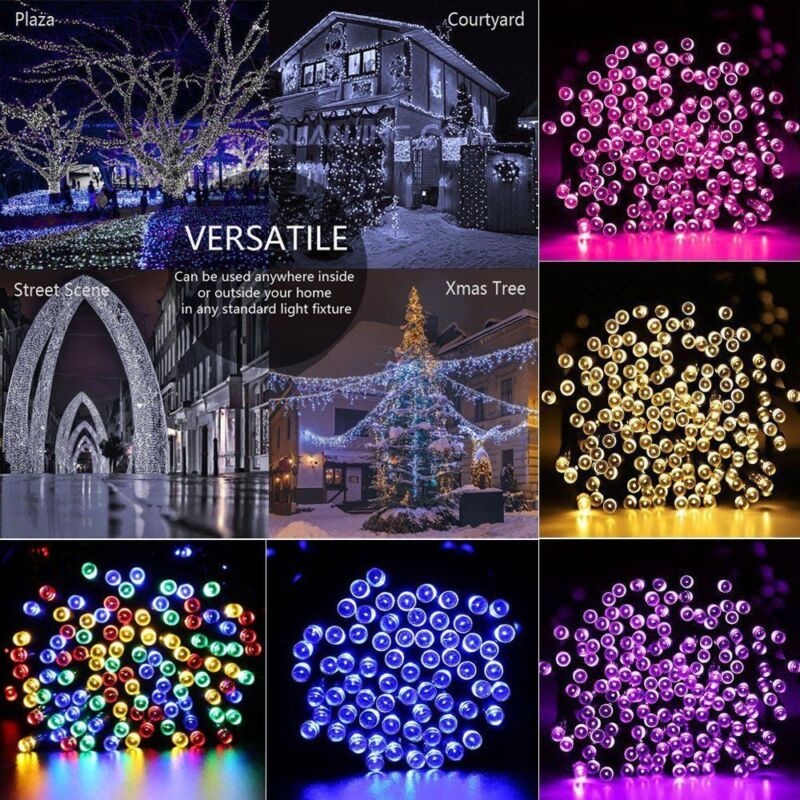 Solar String Lights 100-300 LED Multi Outdoor Garden Party C