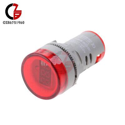 22mm Ac 60-500v Red Led Voltmeter Voltage Meter Indicator Pilot Light Diy 60hz