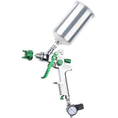 2.5mm HVLP Gravity Feed SPRAY GUN Kit w/Regulator Auto Paint Primer Metal Flake
