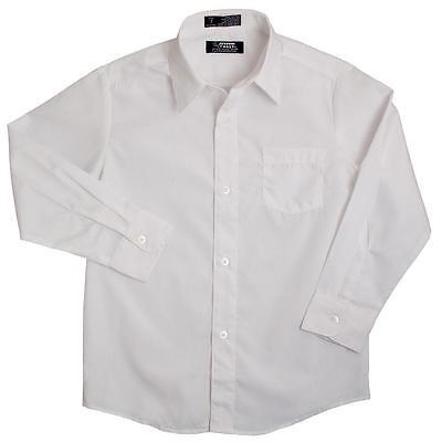 Boys French Toast Button Down Long Sleeve Dress/School Uniform Shirt White - White Dress Shirt Boys