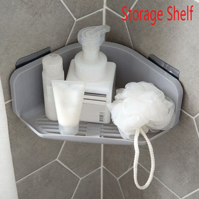 Free nail Bathroom Shelf  Shower Holder Corner Storage Rack Shampoo Organizer