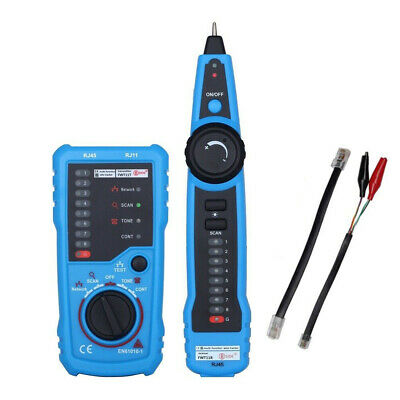 Rj11 Rj45 Cat56 Fwt11bside Telephone Wire Network Tracker Cable Tester Detector