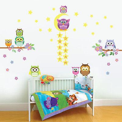 Walplus Owl Tree Star Nursery kid Wall Stickers Mural Decal Paper Art Decoration