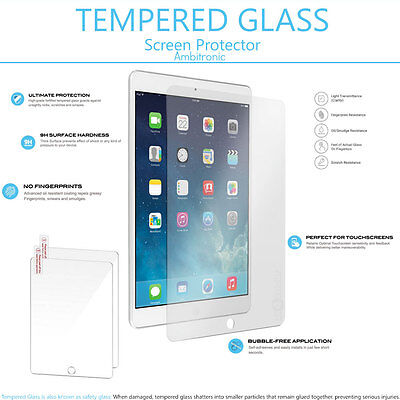 2-pack Premium 9H HD Tempered Glass Screen Protector For  iPad 9.7 2017 5th Gen