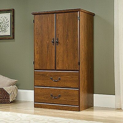 دولاب جديد Sauder 418631 Orchard Hills Armoire Mic Milled Cherry Finish NEW