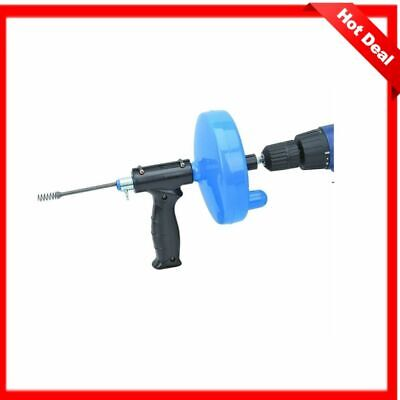 Hand Crank Or Drill Operated Powered Plumbing Drain Cleaner Snake Cable Tool