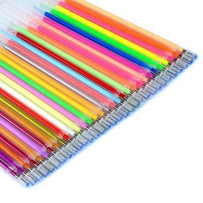 Ohuhu Color Gel Ink Pen Refills Neon Glitter Pastel Art Be Smart Replace 60 Set