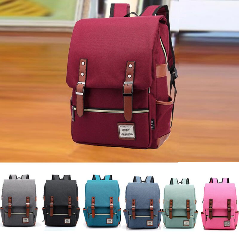 Modern Unisex Shoulder Canvas Backpack Rucksack School Trave