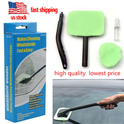 Car Wiper Cleaner Microfiber Windshield Easy Clean Glass Window Tool Brush kit
