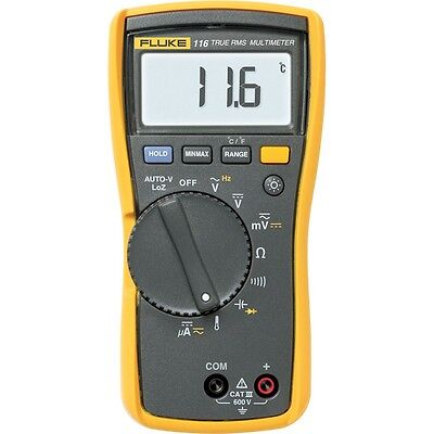 Fluke 116 Hvac Multimeter With Temperature Microamps. Catiii 600v Safety Rated