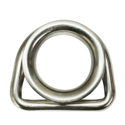 """316 Stainless Steel Marine Boat 5/16"""" D Ring Thimble Round Shave Wire Rope"""