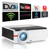 Android Wifi Led Lcd Home Theater Projector Online Movie Video Usb Hdmi Dvb-t2 - caiwei - ebay.co.uk