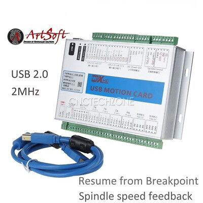 Upgrade 4 Axis Usb Mach3 Cnc Motion Control Card Breakout Board 2mhz Windows 7