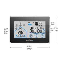 Digital Wireless Weather Station LCD Touch Screen Forecast Temperature Humidity