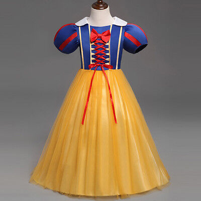 Princess Snow White Costume Cosplay Baby Kids Girls Tutu Party Fancy Dress 1-6Y
