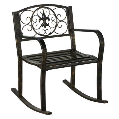 patio metal rocking chair porch