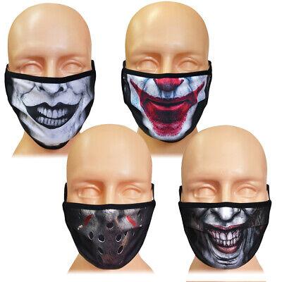 Mund-und Nasenmaske Gesichtsmaske Mundbedeckung Waschbar Clown Joker - Joker Clown Maske