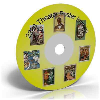 2200 THEATER POSTER IMAGES ON CD