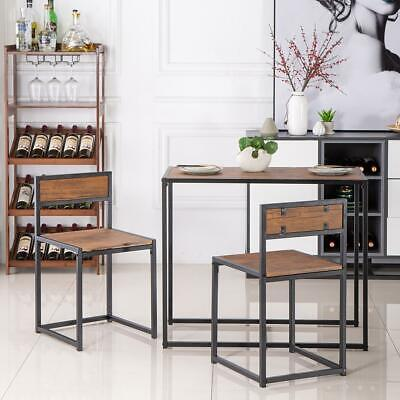 3 PCS Sets Kitchen Dining Table And 2 Chairs Saver Bar Breakfast Home Furniture
