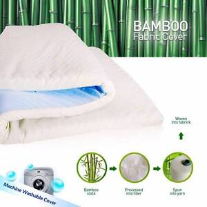 Cool Gel Elastic Memory Foam Mattress Topper Bamboo Fabric Cover St Peters Marrickville Area Preview