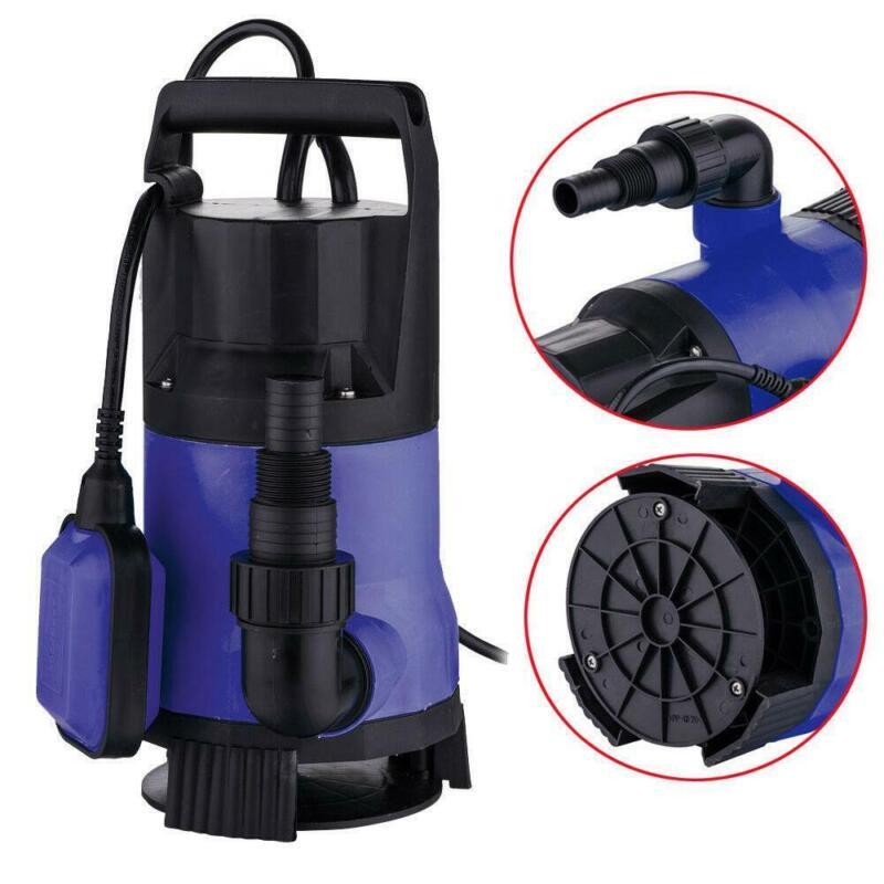 1HP 3432GPH Clean/Dirty Water Pump Transfer Fountain Pool Garden Machine Blue