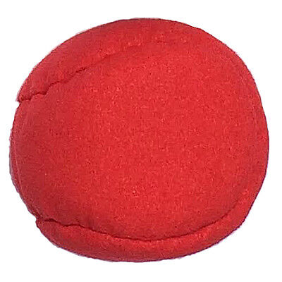 Red Heavy Suede Hackey Sack Footbag. 3.5oz/100g. Great for Kicking or Tossing!