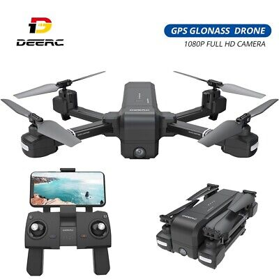 GPS drone with 1080P camera foldable FPV RC quadcopter DE25 smart follow tapfly