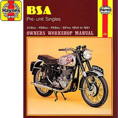 [0326] BSA Pre-Unit Singles B31 B32 B33 B34 CB DB 1954-1961 Haynes Workshop Manu