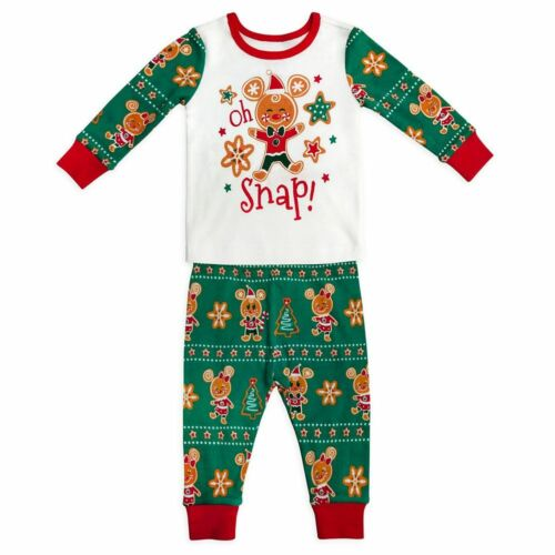 DISNEY MICKEY & MINNIE MOUSE HOLIDAY PJ PALS PAJAMAS BABY SIZE 18-24 MONTHS NWT