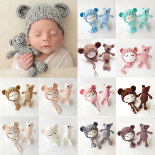 US Stock Newborn Baby Girls Boys Photography Prop Crochet Kn
