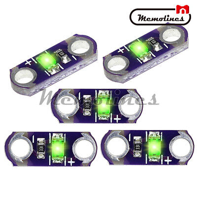 5pcslot Lilypad Smd Led Kit Diy 3v-5v Module Light Green