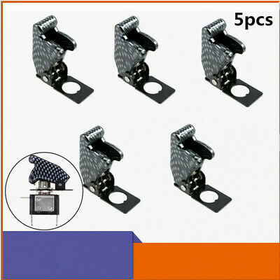 5pc Waterproof Safety Flip Cover Protection Cap For Toggle Switch 12mm Mount Dia