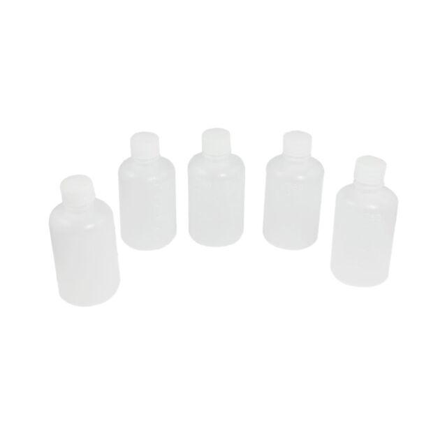 30ml Clear Plastic Cylinder Shaped Chemical Agent Bottle 5 Pcs