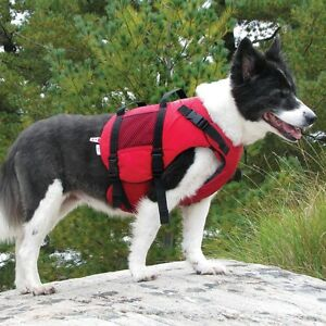 Salus Dog PFDs Instock in All Sizes-Mango and Red in Stock