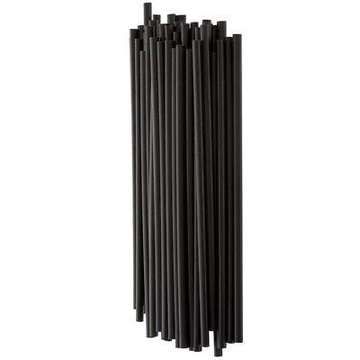 20000 Case 7 34 Jumbo Black Unwrapped Soda Straw Commercial Box Wholesale