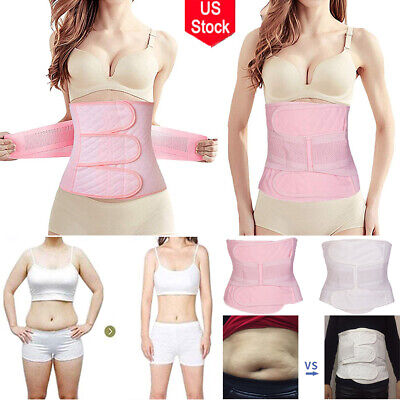 Postpartum Belt Belly Wrap Band Body Shaper Support Recovery Girdle After Birth ()