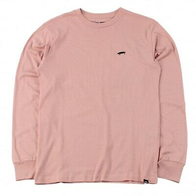 VANS, Pink Long Sleeve T- Shirt With Skateboard Detail, Size M