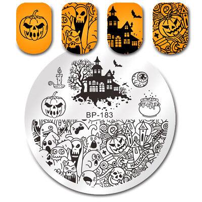 BORN PRETTY Nail Art Stamping Plate Halloween Pumpkin Ghost Castle Template DIY](Pretty Halloween Pumpkins)
