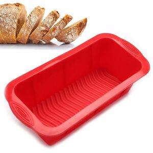 Bread Mold Silicone Rectangle Loaf Pan Cake Nonstick home made Baking 10