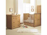 "Langham ""East Coast"" Oak Dresser / nursery change table"